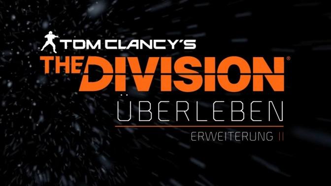 """THE DIVISION: Erweiterung 2 -""""Überleben"""" ab morgen erhältlich"""