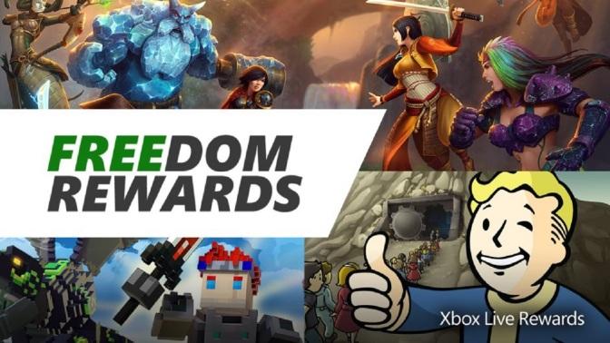 XBOX LIVE REWARDS: Freedom Prämien