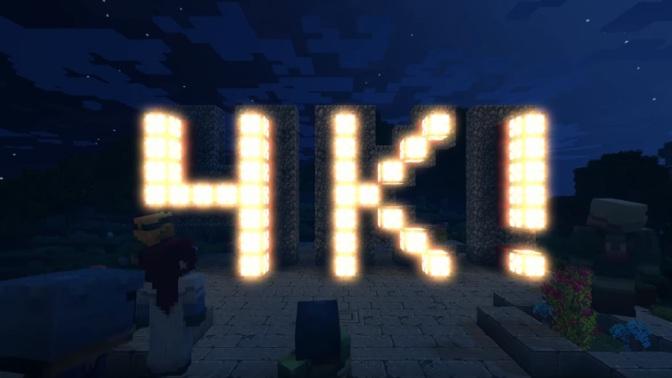 MINECRAFT: Jetzt in 4K