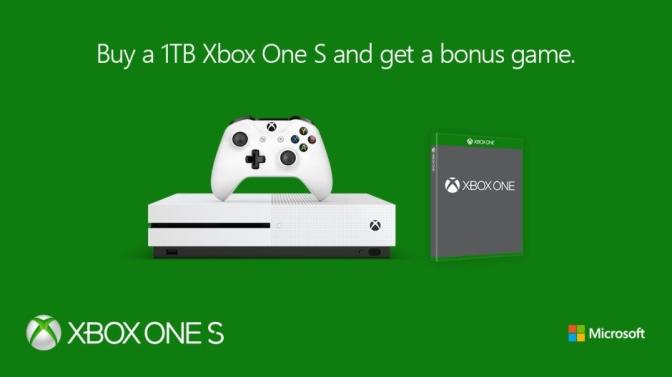 XBOX ONE S BUNDLE: Jetzt 1TB mit Spiel dazu