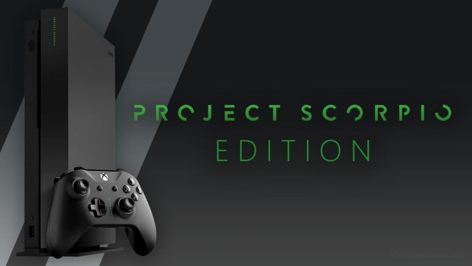 "XBOX ONE X: ""Project Scorpio"" Edition kommt"