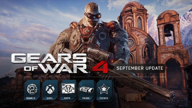 GEARS OF WAR 4: September Update bringt neue Maps und Erfolge